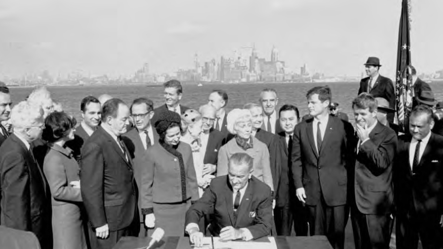 Fifty years ago President Lyndon Johnson signed the Immigration Act into law and completely changed who can immigrate to the United States. In 1965, 84% of Americans were white. Today, due largely in part to the Immigration Act, the white population has shrunk to around 60%.