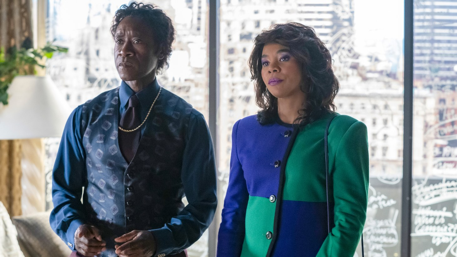 """Don Cheadle and Regina Hall star in Showtime's """"Black Monday."""""""