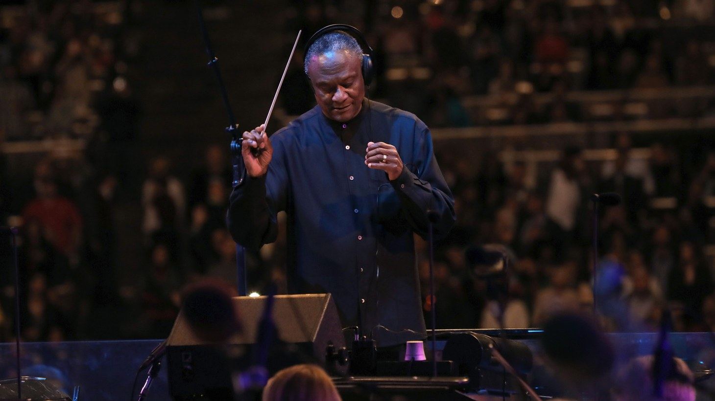 Thomas Wilkins on opening night at the Hollywood Bowl 2019.