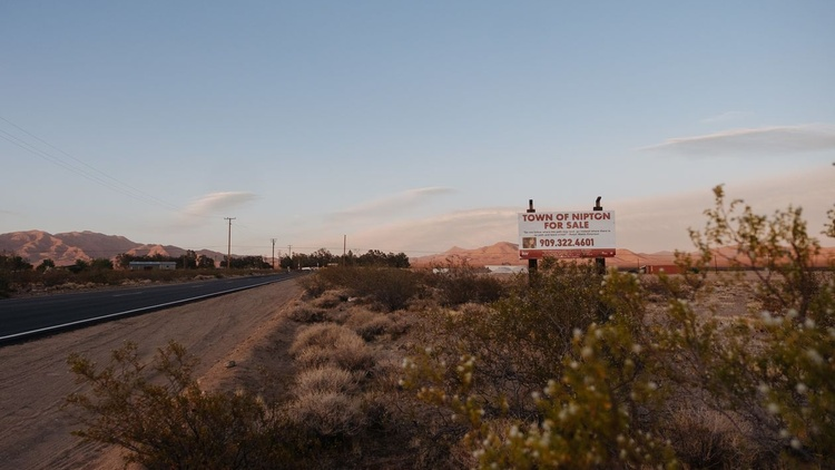 The California town of Nipton, in the Mojave desert, is for sale . It's on the far edge of San Bernardino County, about an hour away from Las Vegas.