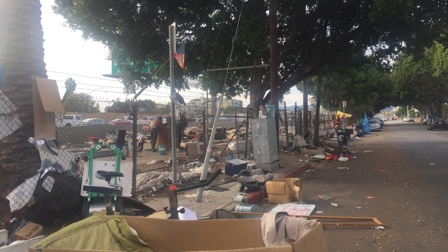 Press Play producer Anna Scott reports on the conditions in a homeless encampment in Sawtelle. And Spotlight, a new movie based on the Boston Globe's investigation of sexual abuse by Catholic priests, opens this weekend.