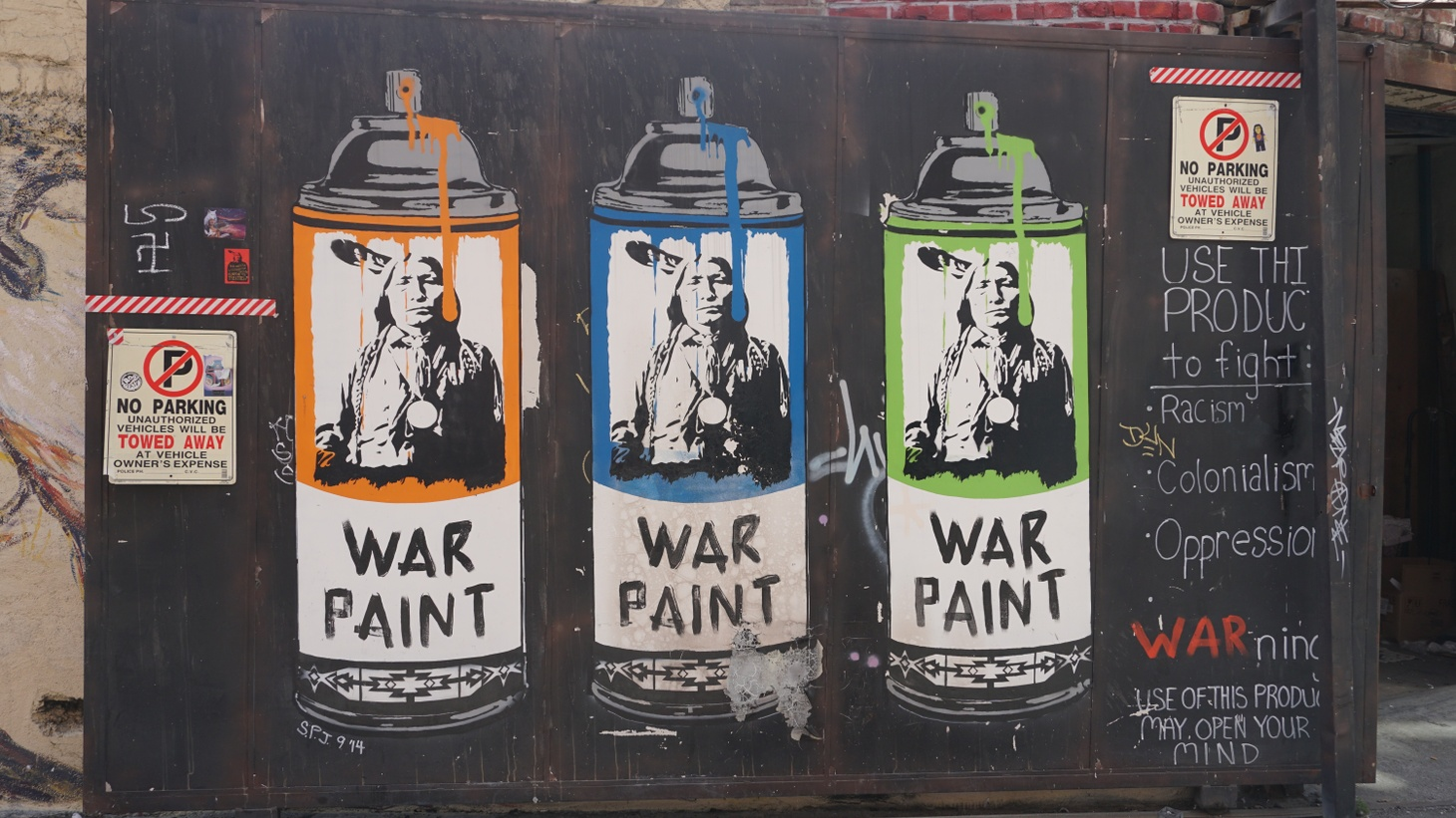 War paint, Indian alley, downtown LA.