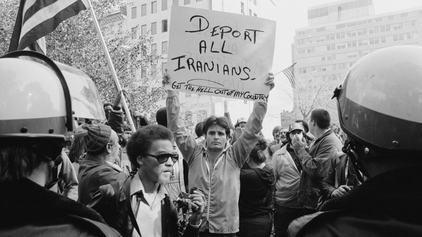 An anti-Iranian protest in Washington, D.C., in 1979.