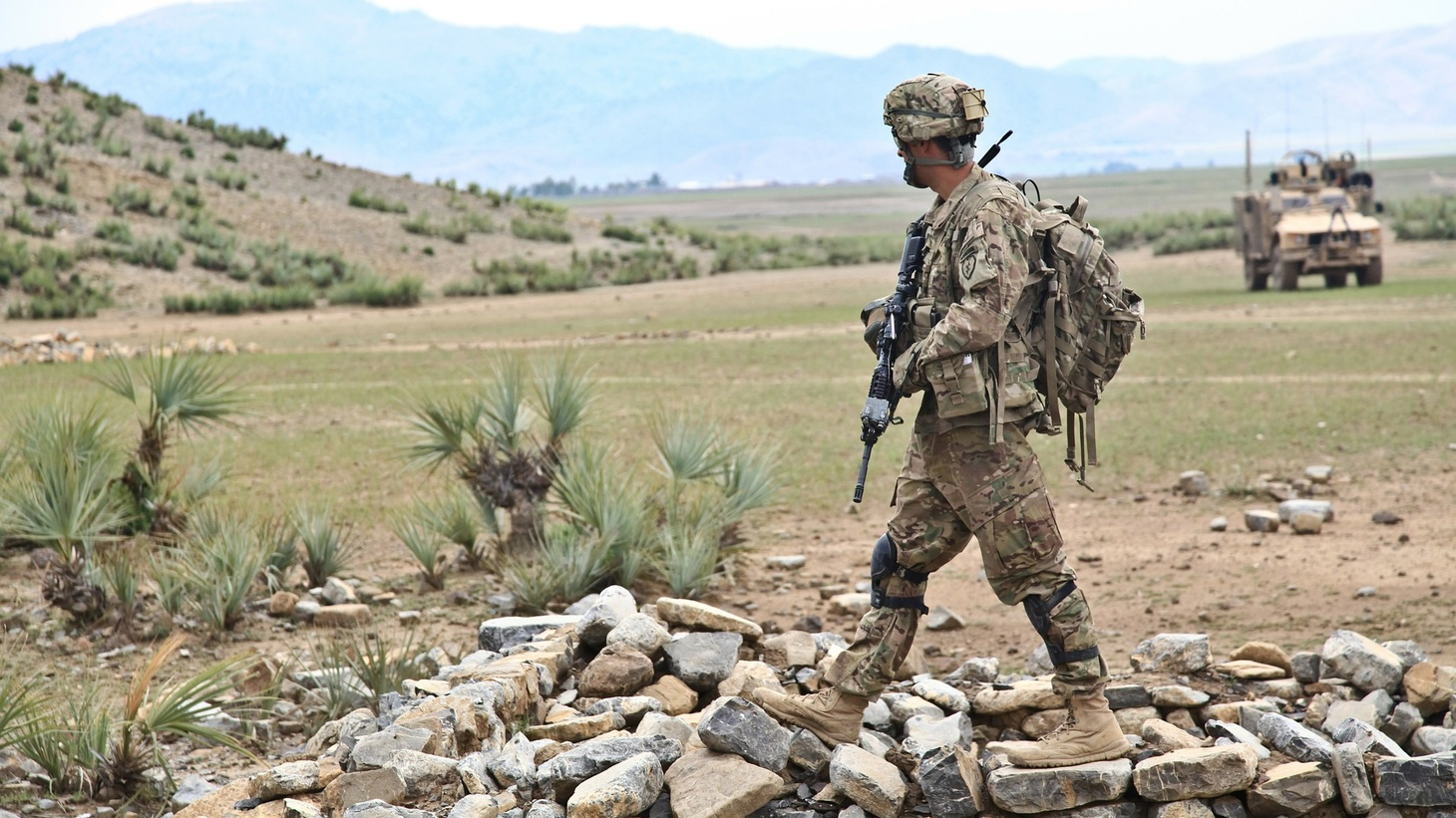 A soldier in Afghanistan.