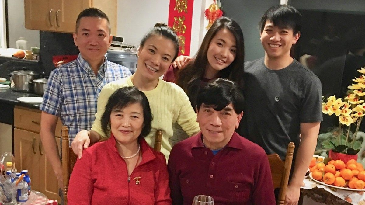 Chef Shirley Chung and her family celebrating Chinese New Year.