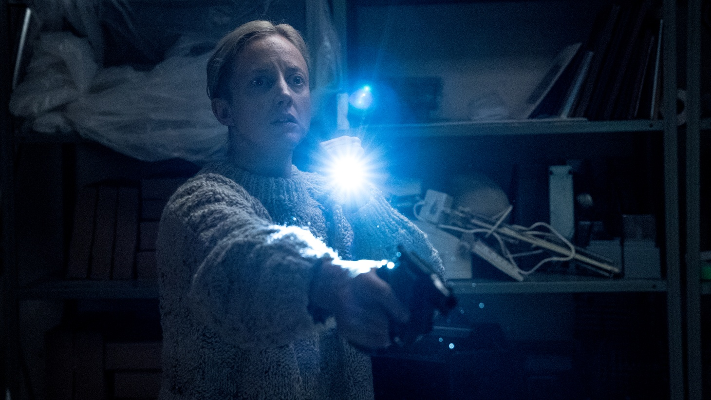 """Andrea Riseborough as Detective Muldoon in """"The Grudge."""""""