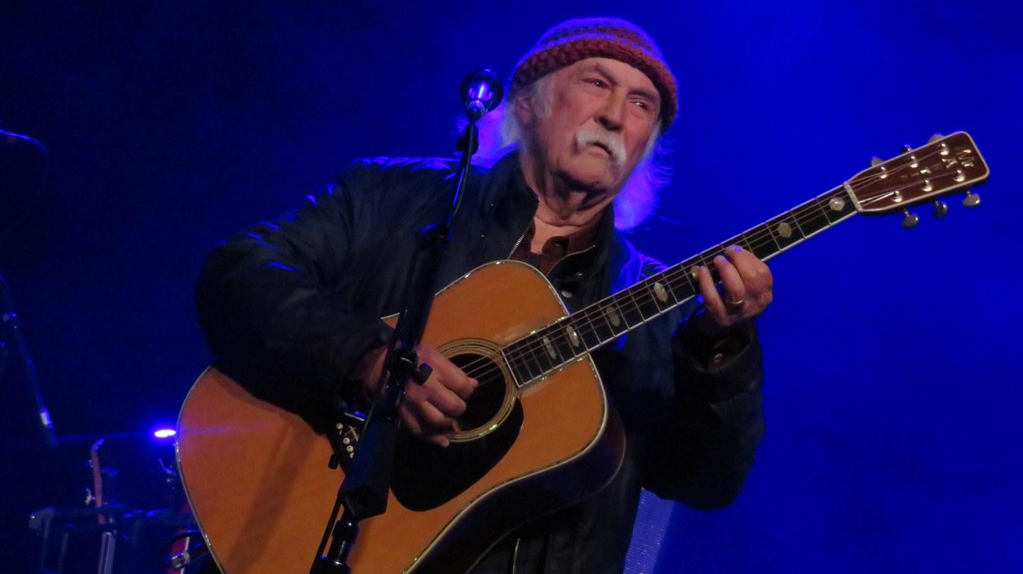 David Crosby performing live in Deurne, Belgium.