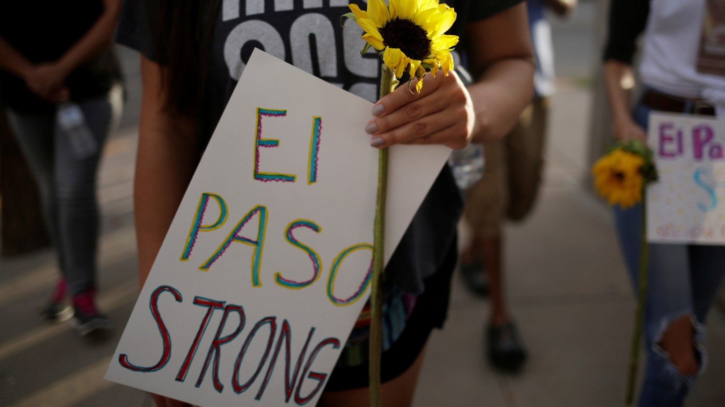 People take part in a rally against hate a day after a mass shooting at a Walmart store, in El Paso, Texas, U.S. August 4, 2019.