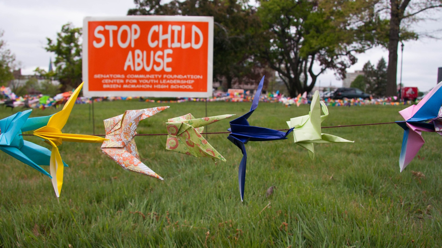 A Crane for Each Child; Students Seek End to Child Abuse.