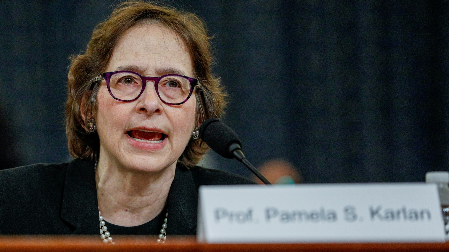 Pamela Karlan, professor of Public Interest Law and co-director of the Supreme Court Litigation Clinic at Stanford Law School, testifies during a House Judiciary Committee hearing on the impeachment inquiry into U.S. President Donald Trump on Capitol Hill in Washington, U.S., December 4, 2019.