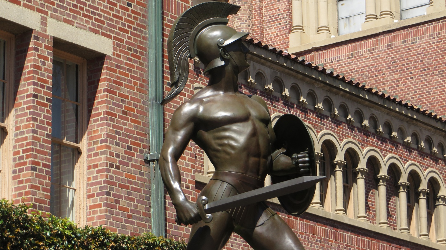Tommy Trojan, officially known as the Trojan Shrine, is one of the most recognizable figures of school pride at the University of Southern California.