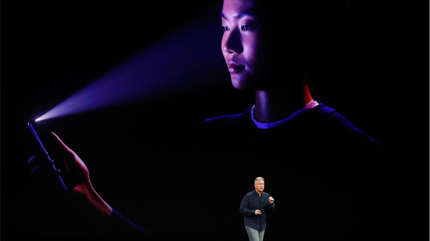 Apple made a big announcement about new products, including a phone with facial recognition software. Facial recognition is already being used a lot more widely than you'd think. The FBI has photos of half of all Americans in its database. The Europeans and the Chinese use it all the time.