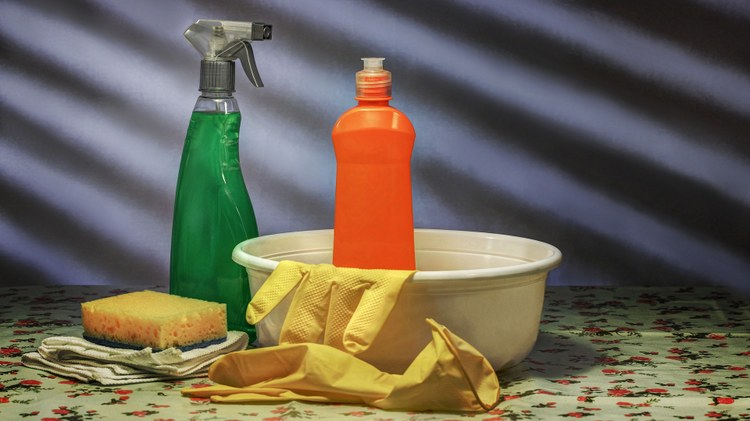 The first ingredient in most cleaning products is water. In some cases, water makes up more than 90% of household cleaners, like detergent, floor cleaner, and shampoo.
