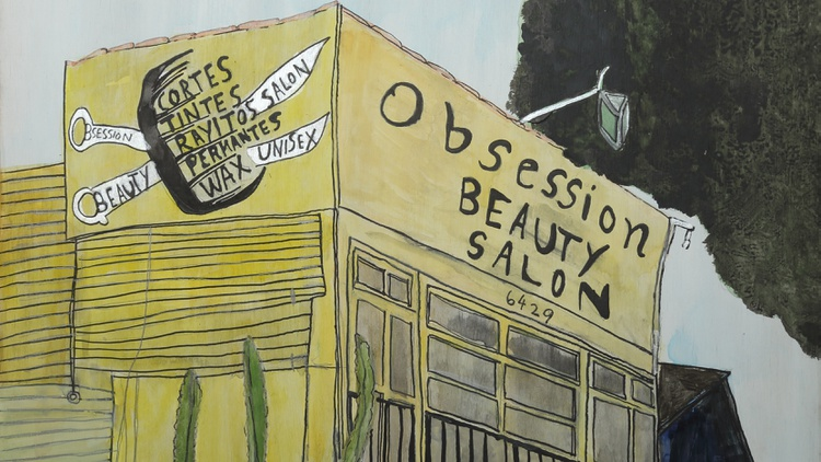 Artist Nib Geebles noticed a lot of things in his Highland Park neighborhood when he decided to ditch the car and commute on foot. He decided to draw the easy-to-miss landmarks he saw.