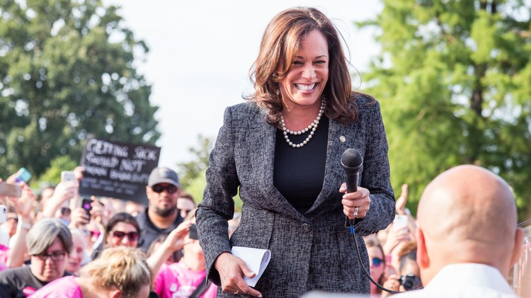 California Senator Kamala Harris is running for president in 2020. She's positioning herself as someone who has always fought for civil rights.