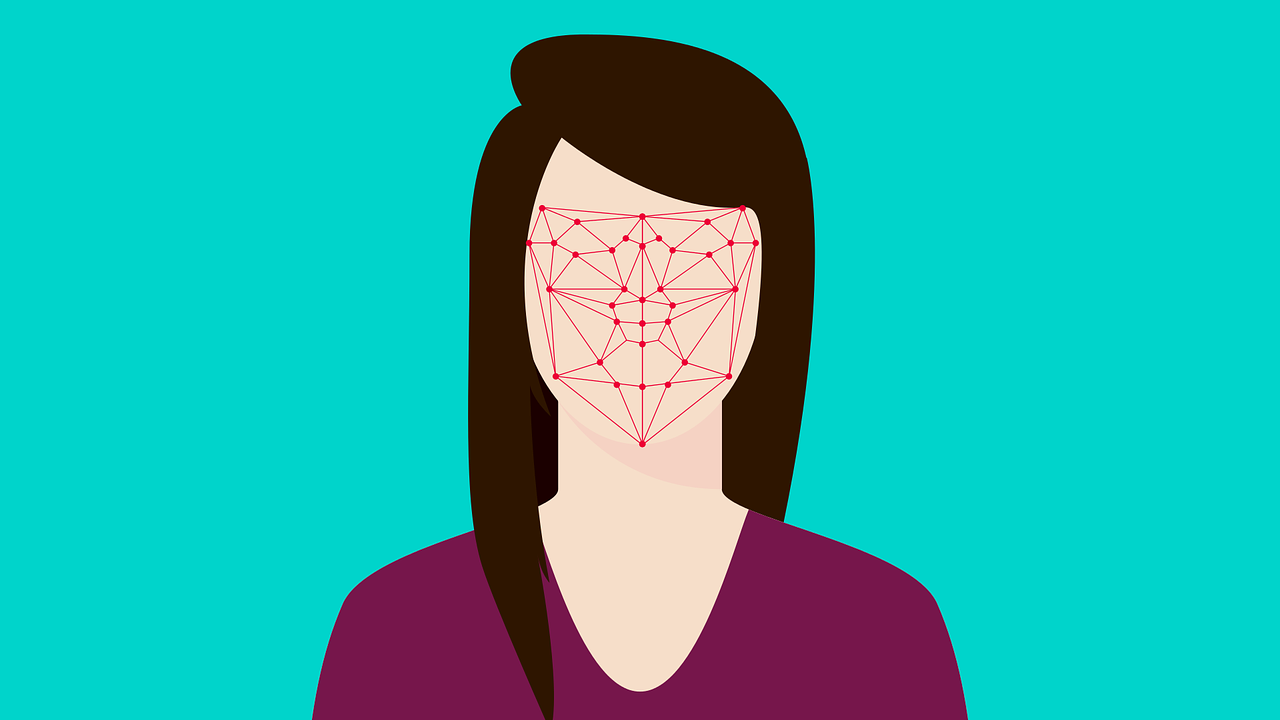 Facial recognition of a woman.