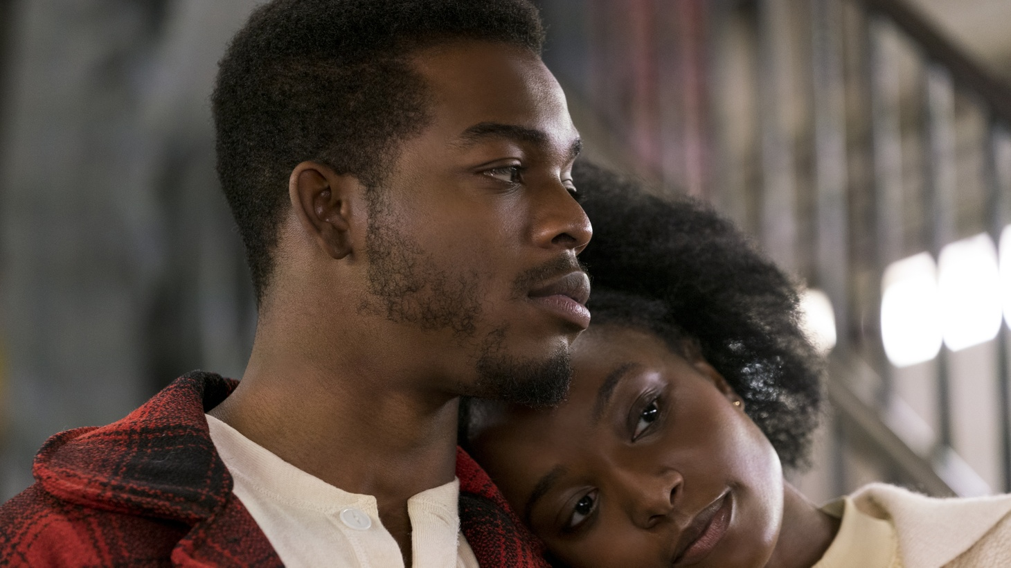 """Stephan James as Fonny and KiKi Layne as Tish in """"If Beale Street Could Talk."""""""