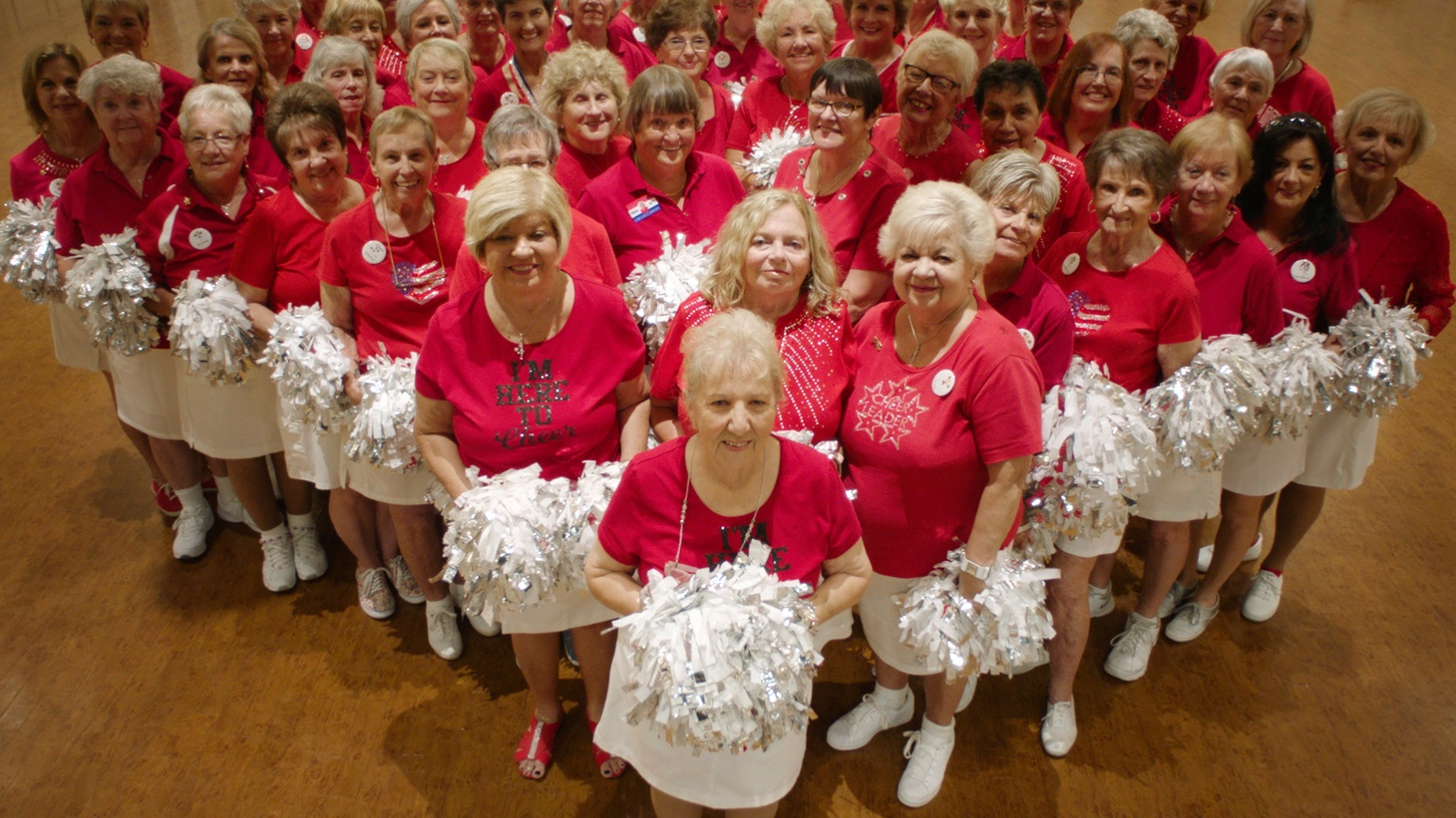 """Retirees form a cheerleading squad in """"Some Kind of Heaven."""""""