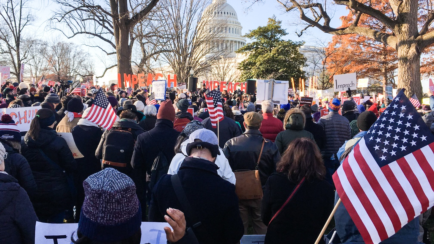 Impeachment rally in front of the U.S. Capitol in Washington D.C., December 18, 2019.