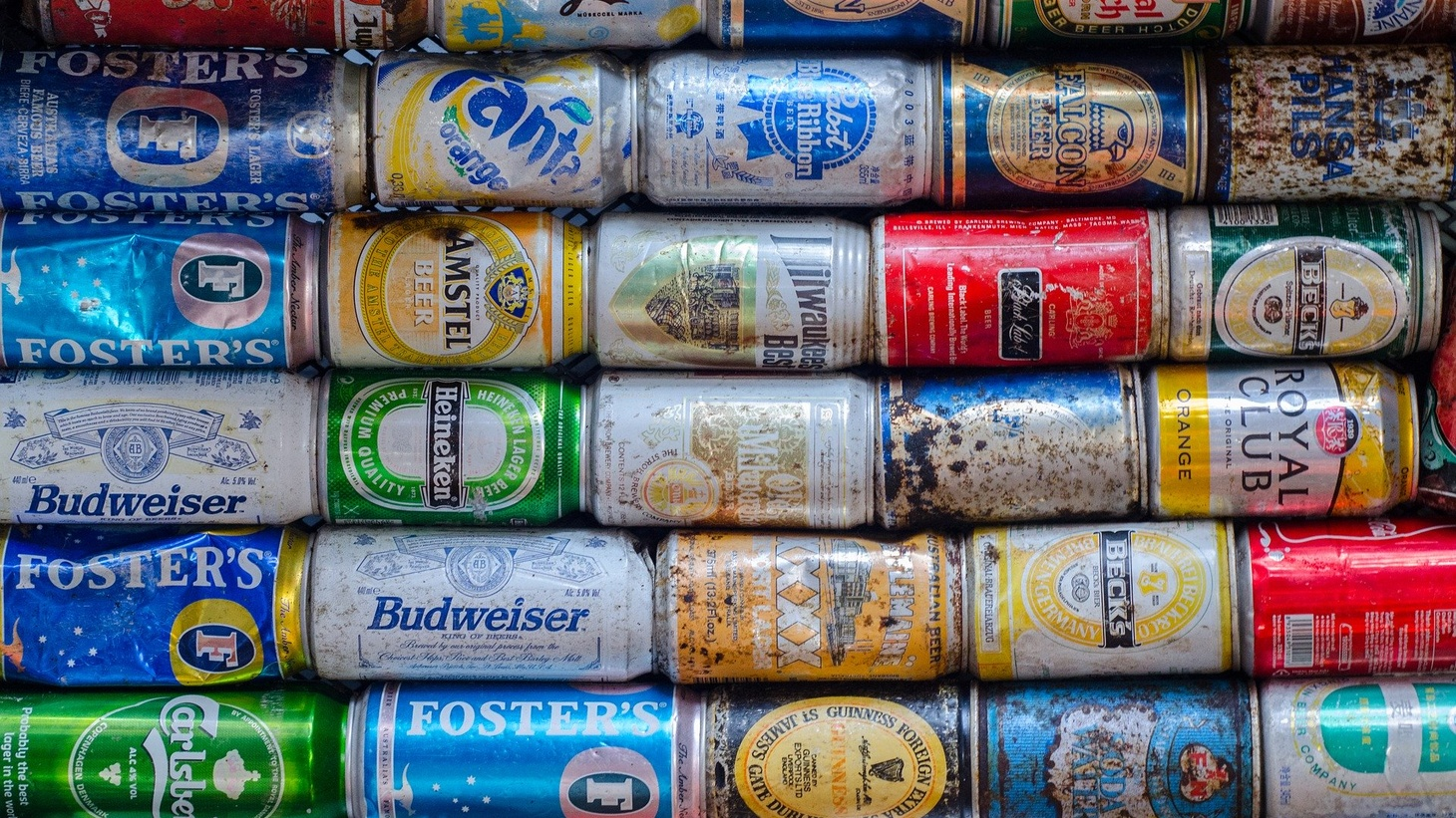 Beverage cans.
