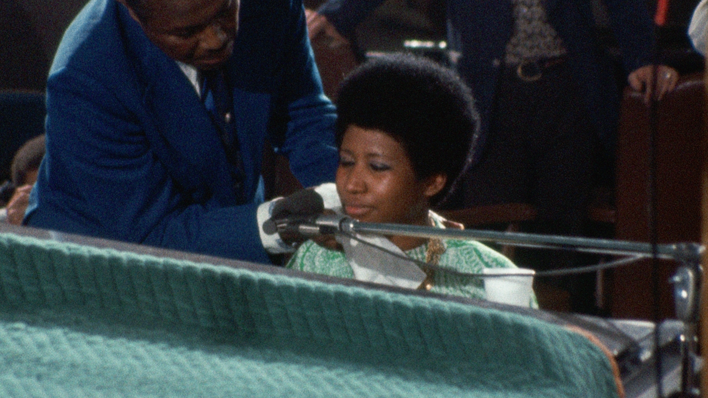 "Aretha Franklin in the documentary ""Amazing Grace."""