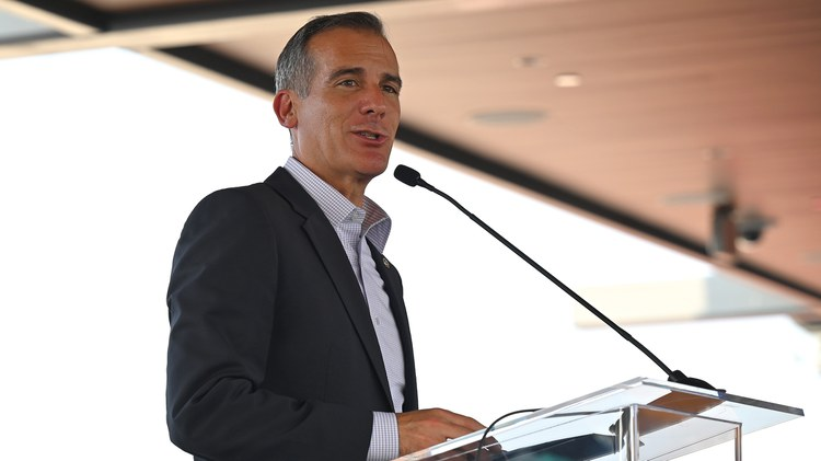 Mayor Eric Garcetti debuted the city's Indigenous LAnd Initiative today in recognition of Indigenous Peoples' Day.