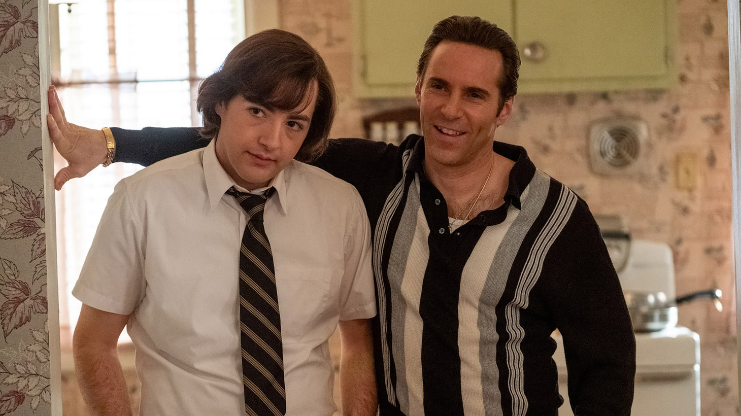 """Michael Gandolfini (left) plays a teenage Tony Soprano, and Alessandro Nivola is his mentor Dickie Moltisanti in the new film """"The Many Saints of Newark."""" Moltisanti is the lead character, who is """"not only the master of his own destiny, but he is complicit in his own failures,"""" says writer Matt Zoller Seitz."""