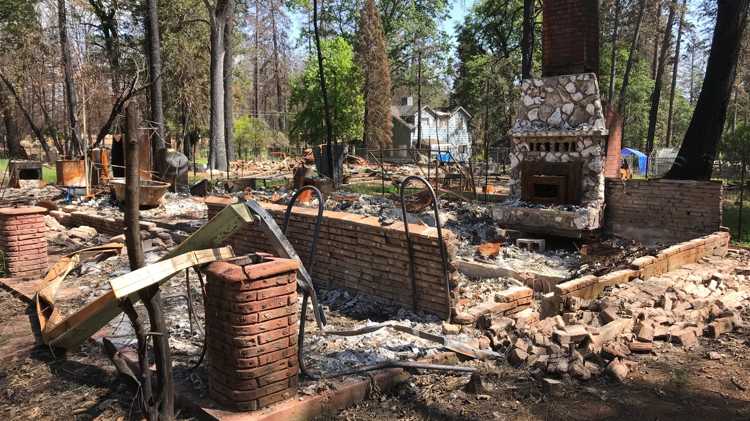 Damage from the Camp Fire.