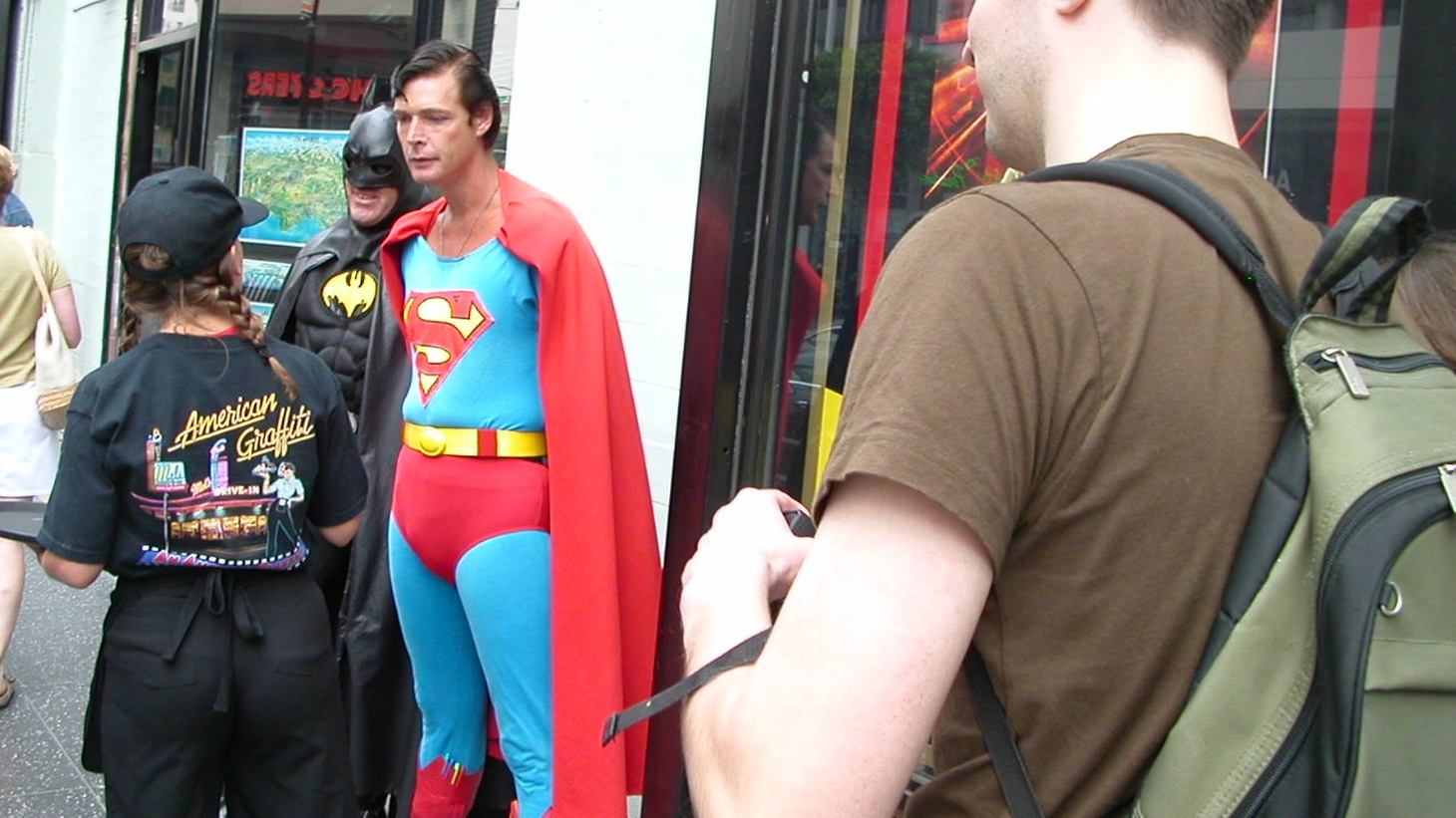 Christopher Dennis, who has dressed up as Superman for years and works for tips outside Mann's Chinese Theater on Hollywood Boulevard.