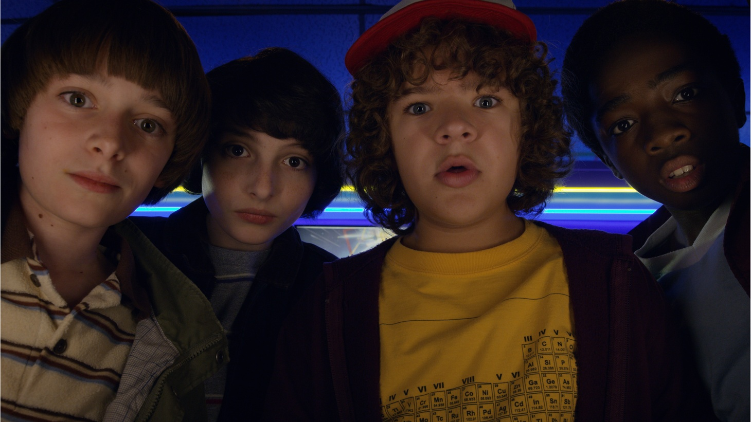 """Netflix has a certified hit with its '80s tinged horror/comedy/sci-fi series """"Stranger Things."""" The show is up for two Golden Globes this Sunday: Best TV drama and best supporting actor."""