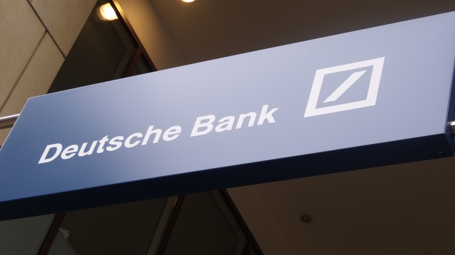 Deutsche Bank sign in England.