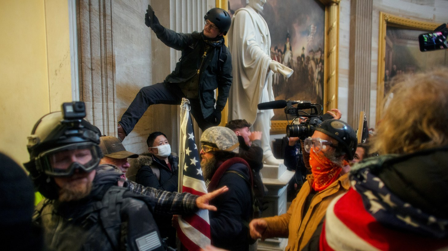 Trump supporters storm the U.S. Capitol to contest the U.S. Congress' certification of the 2020 U.S. presidential election results, in Washington, D.C., U.S. January 6, 2021.
