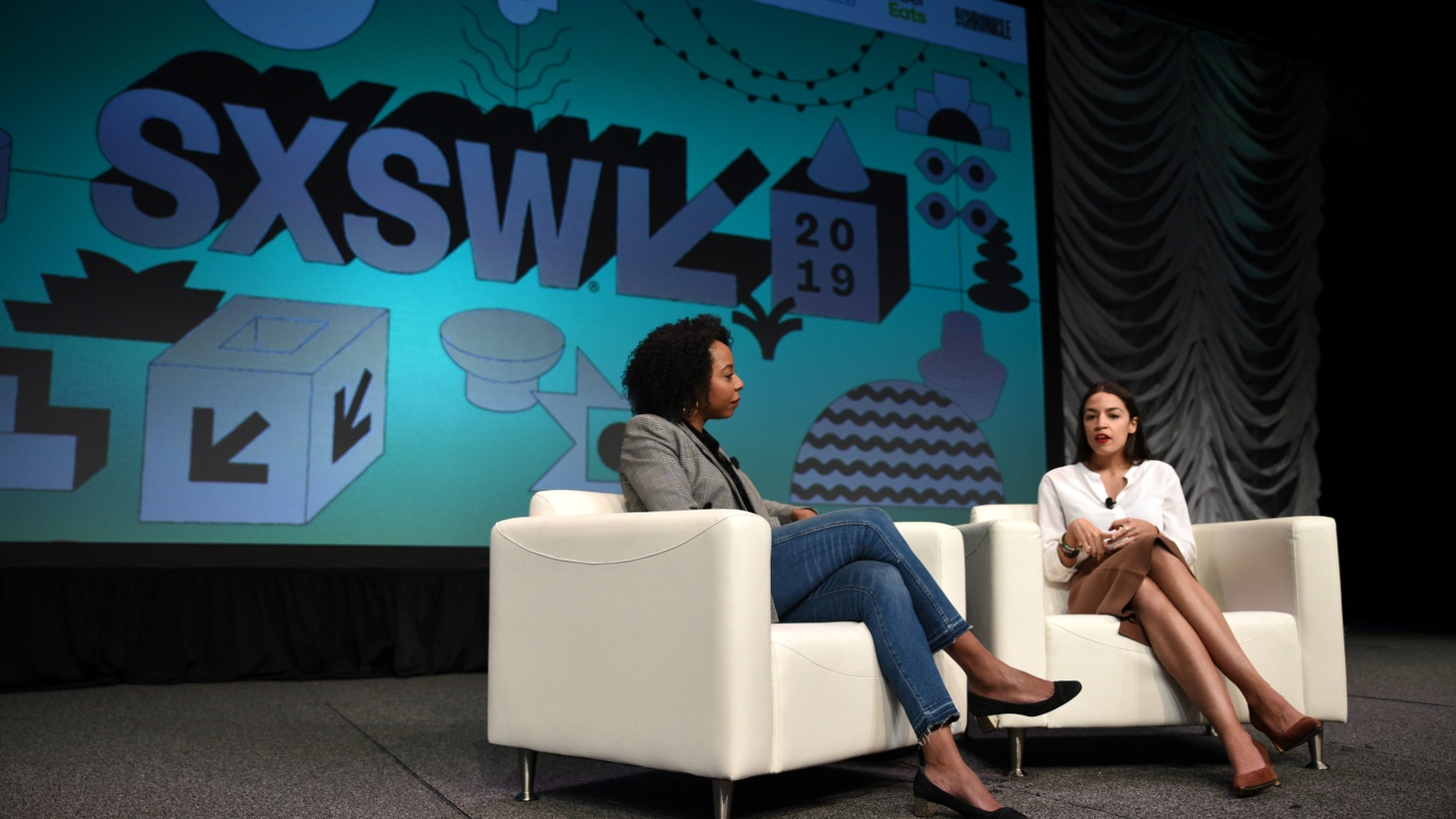 U.S. Congresswoman Alexandria Ocasio-Cortez speaks about the first few months of her tenure in Congress with Briahna Gray at the South by Southwest (SXSW) conference and festivals in Austin, Texas, U.S., March 9, 2019.