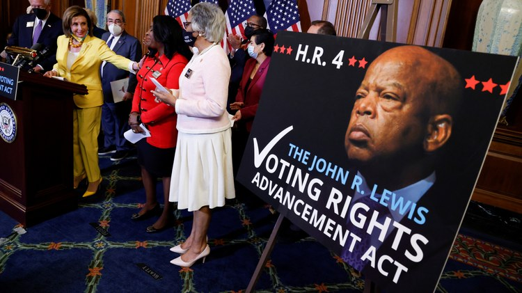 The House this week passed a major piece of voting rights legislation — the John Lewis Voting Rights Advancement Act.