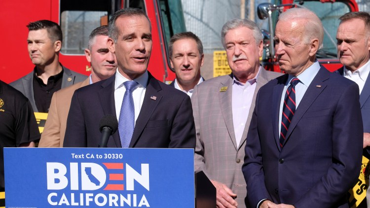 Garcetti tells Press Play what the Biden administration would mean for Los Angeles, which is facing big economic problems due to COVID-19.