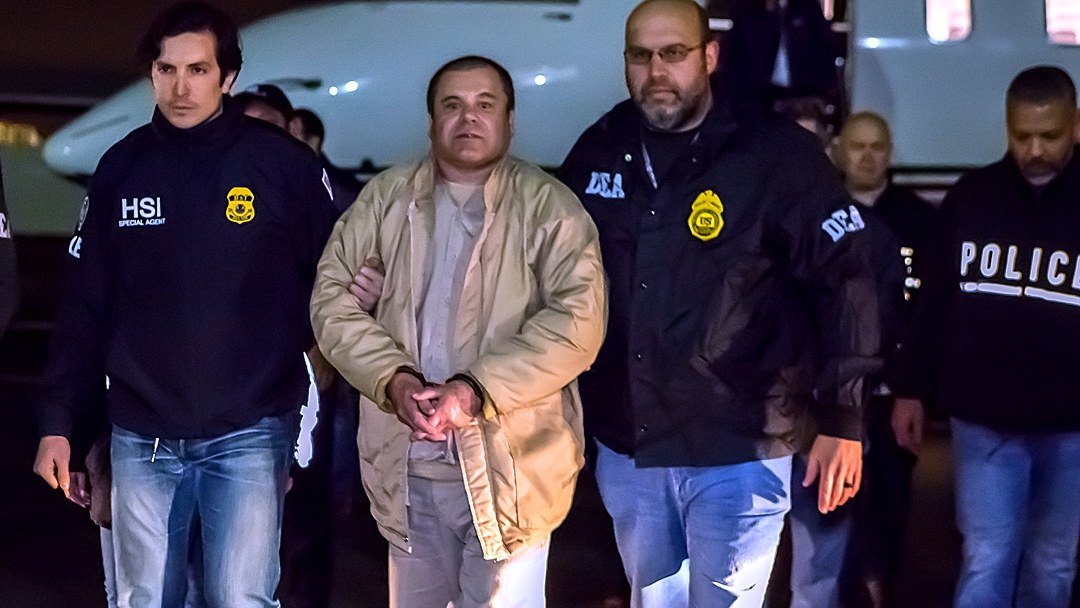 El Chapo in U.S. custody, 19 January 2017.