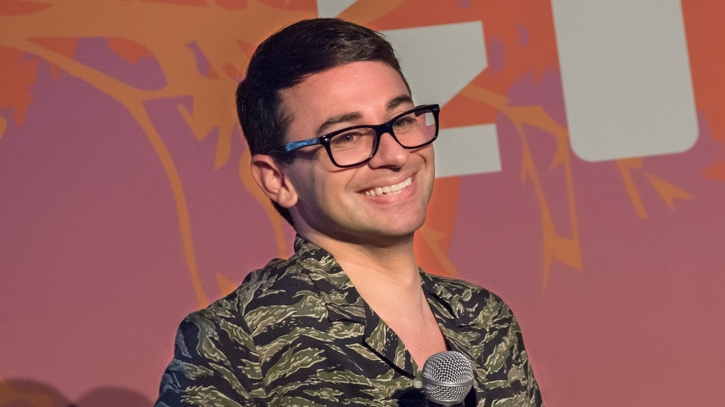 Christian Siriano, winner of Project Runway season 4, at Ozy Fest in 2018.