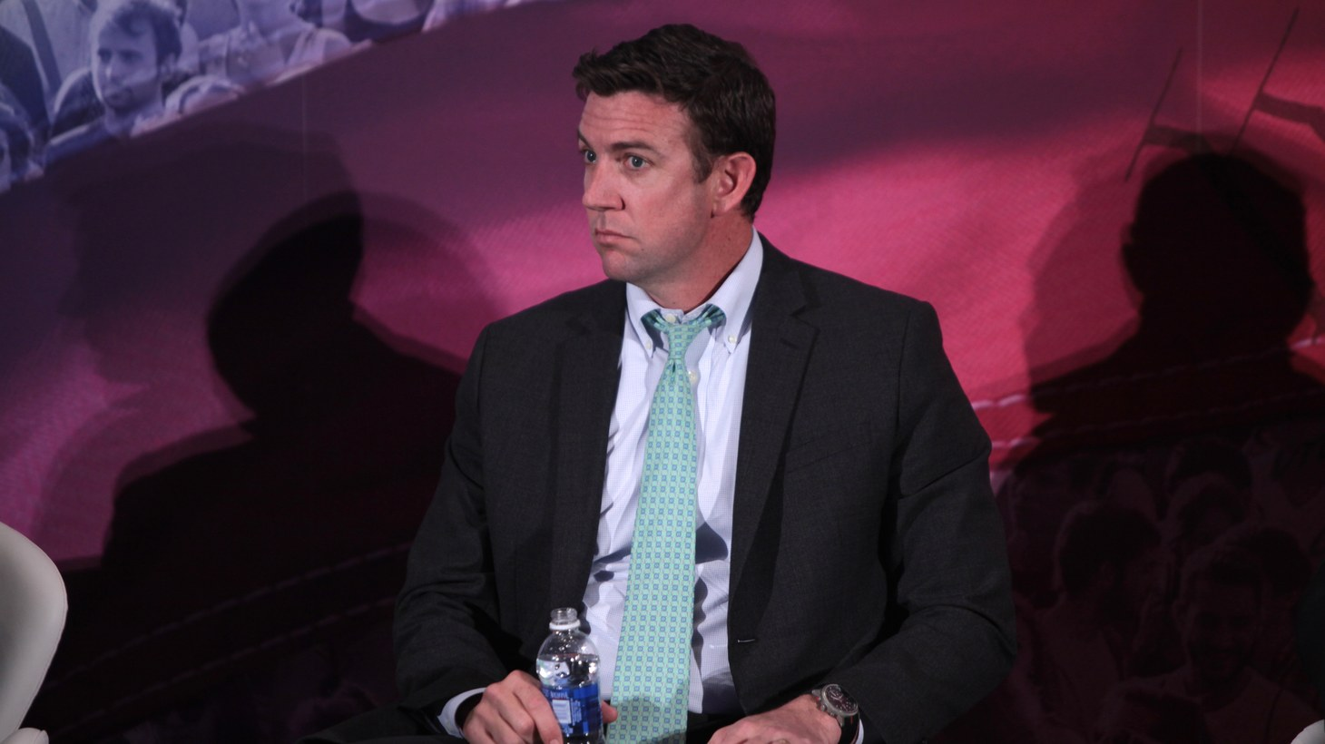 U.S. Congressman Duncan Hunter of California speaking at the 2016 Conservative Political Action Conference (CPAC) in National Harbor, Maryland.