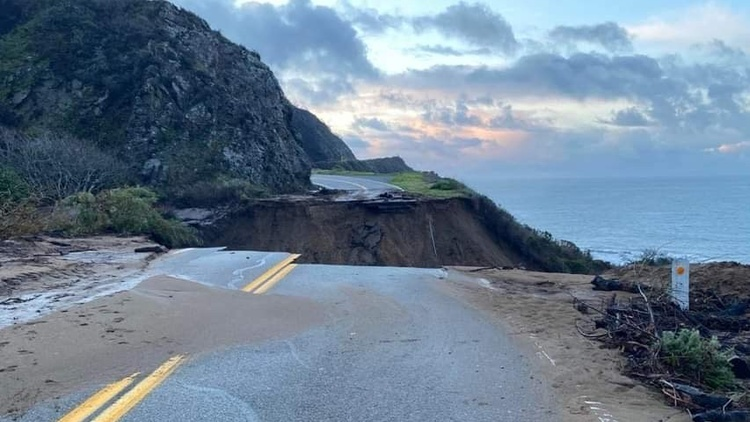 Central California is still reeling from a torrential storm that slammed the region a few weeks ago. A section of Highway 1 collapsed along the Big Sur cliffside.