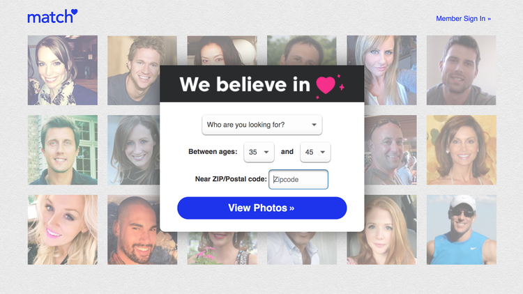 """If you've used the dating site Match.com, you've probably received a notification saying """"Someone's interested in you!"""" or """"You caught his eye."""