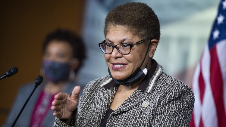 U.S. Representative Karen Bass officially announced plans to leave Washington D.C. and run for mayor of LA.