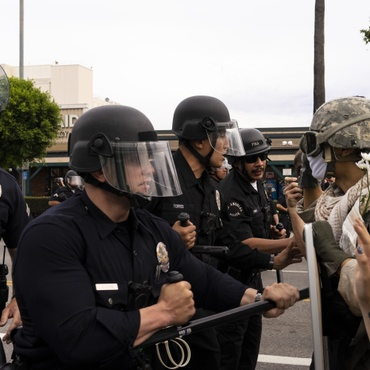Some police officers are pushing the boundaries of what's appropriate, says former LAPD sergeant Cheryl Dorsey.