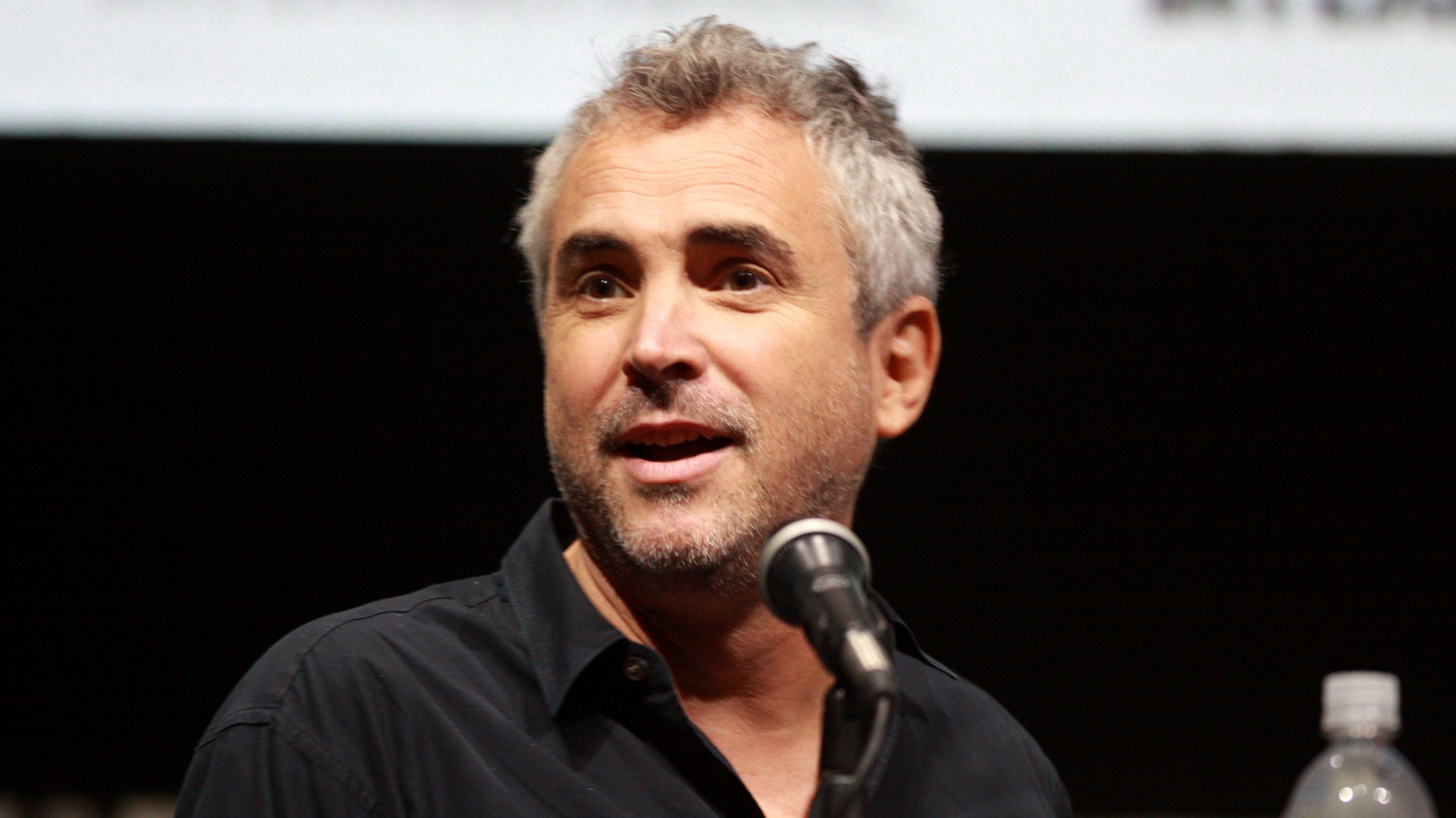 "Alfonso Cuarón speaking at the 2013 San Diego Comic Con International, for ""Gravity"", at the San Diego Convention Center in San Diego, California."