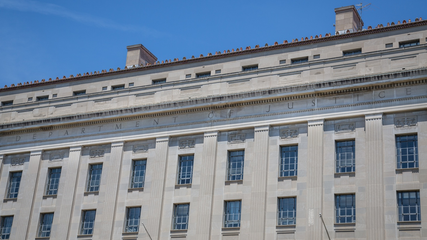 The U.S. Department of Justice building in Washington, DC.