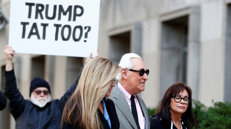 Roger Stone headed to court this morning for his long-awaited trial.