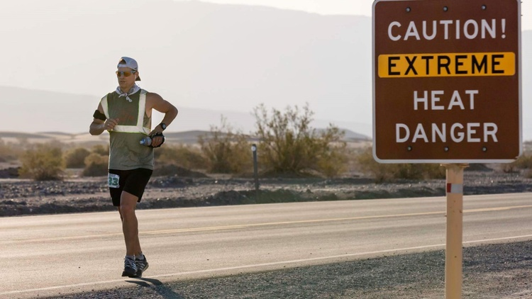 """The """"Badwater 135"""" ultra-marathon begins Monday night at the lowest point in the Western Hemisphere -- Badwater Basin in Death Valley, some 280 feet below sea level."""