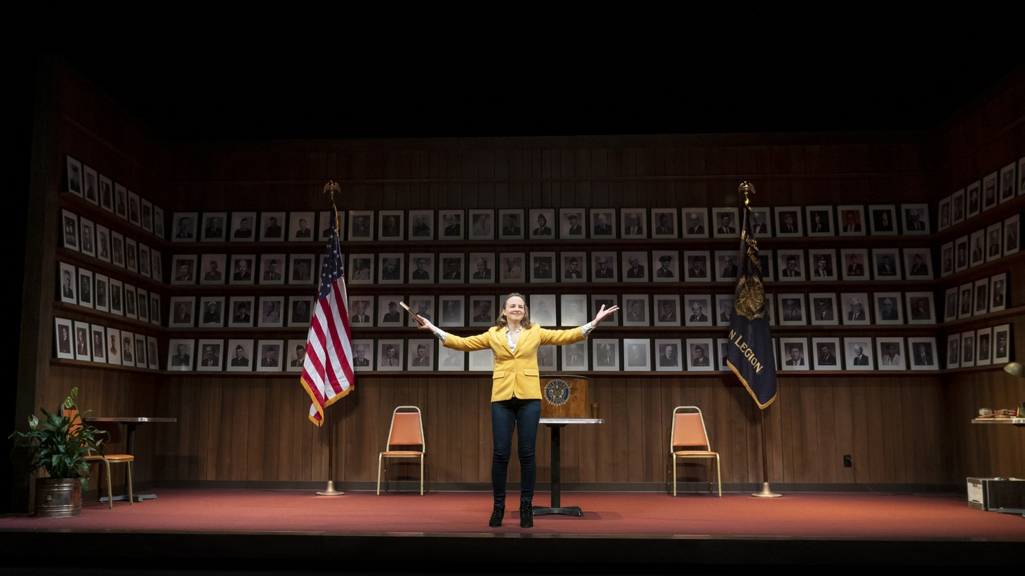 "Maria Dizzia in the national tour of ""What the Constitution Means to Me."""