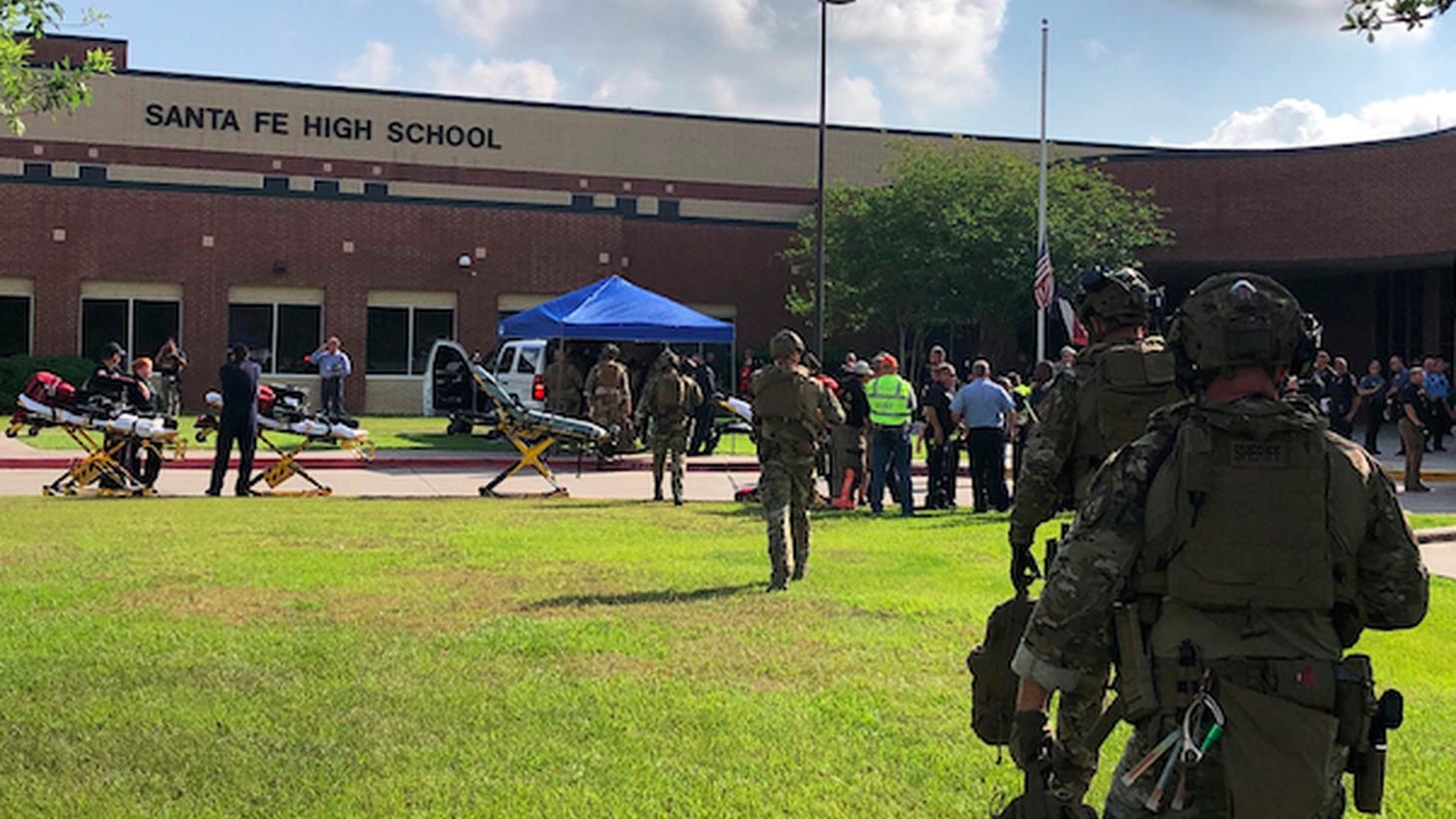 en people were killed Friday at Santa Fe High School in South Eastern Texas, including nine students and one teacher. The alleged shooter is a student named Dimitrios Pagourtzis.