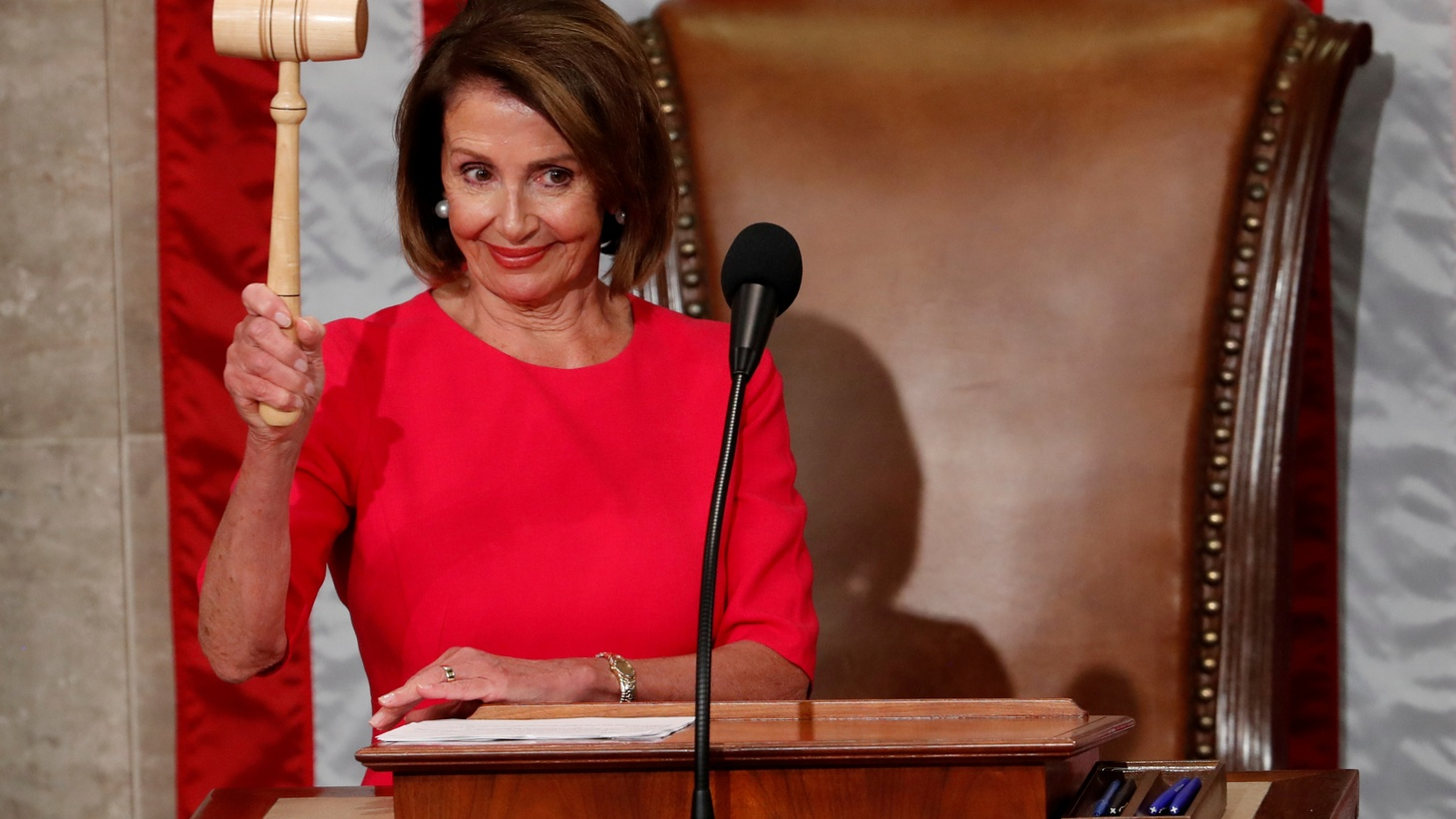 House Speaker-delegate Nancy Pelosi (D-CA) raises the gavel after being elected as House Speaker as the U.S. House of Representatives meets for the start of the 116th Congress inside the House Chamber on Capitol Hill in Washington, U.S., January 3, 2019.