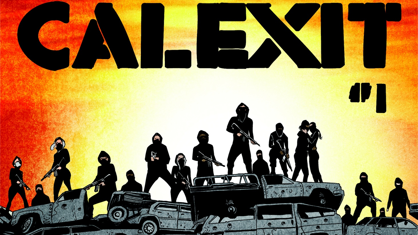 """In the new graphic novel series """"Calexit,"""" an autocratic president is deporting all immigrants. California secedes, but a civil war breaks out within the state, and parts of it are occupied by federal troops. A young Mexican immigrant flees LA and leads a resistance."""